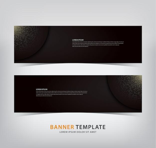 Elegant banner with sparkling spots Premium Vector