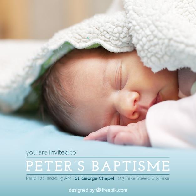 Invito elegante del battesimo Vettore gratuito