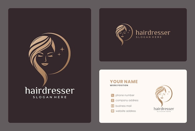 Elegant beauty moman logo . logo can be used for hairdresser, beauty salon, haircut, beauty care. Pr