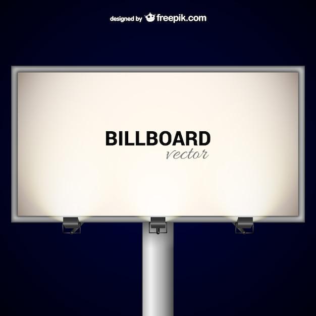 elegant billboard with spotlights vector free download