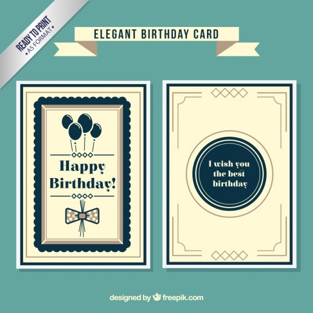 elegant birthday cards
