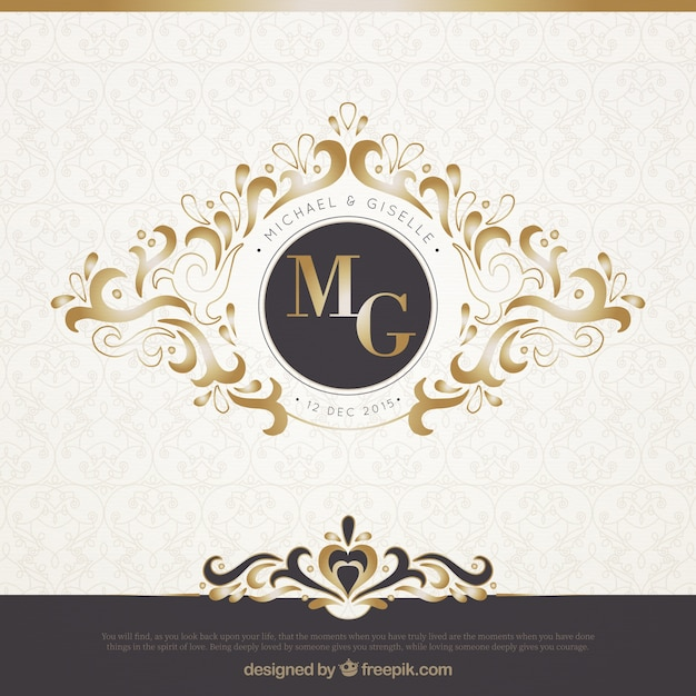 Elegant black and gold wedding invitation vector free download elegant black and gold wedding invitation free vector stopboris Image collections
