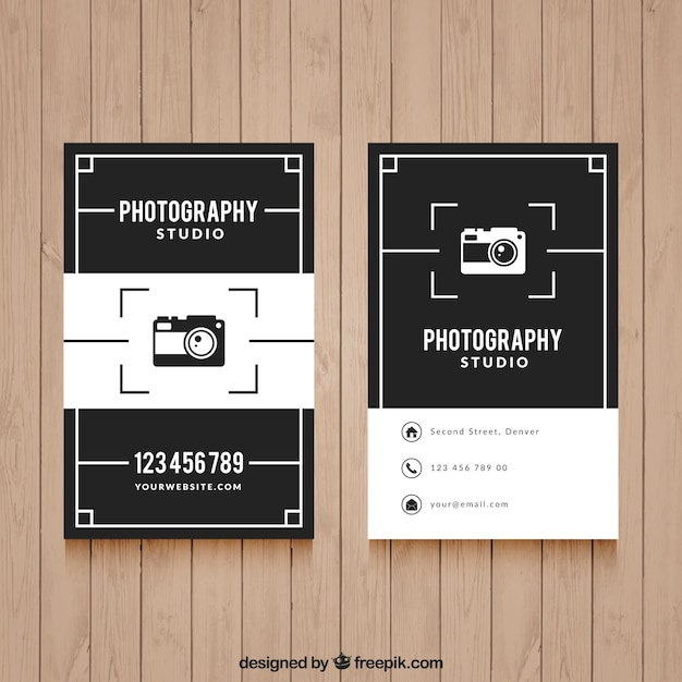 Elegant black and white business card for photography vector free elegant black and white business card for photography free vector colourmoves Choice Image