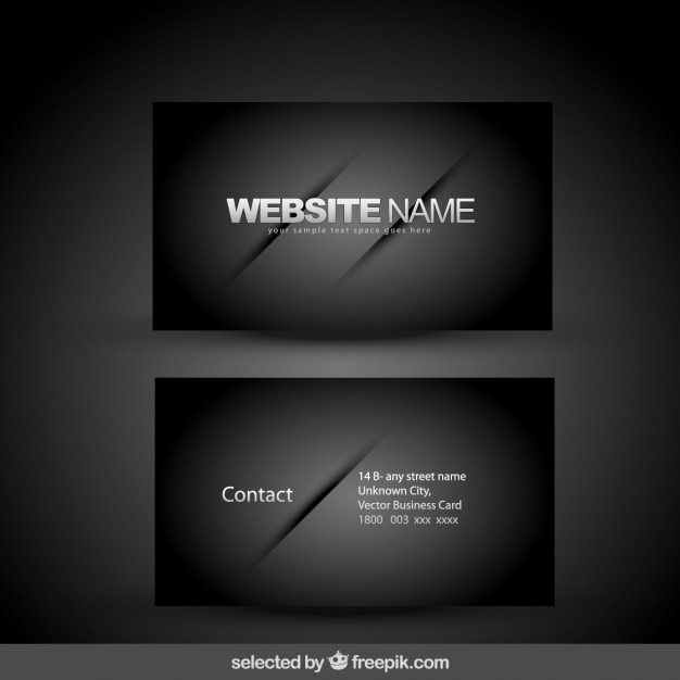 Elegant Black Business Card Free Vector