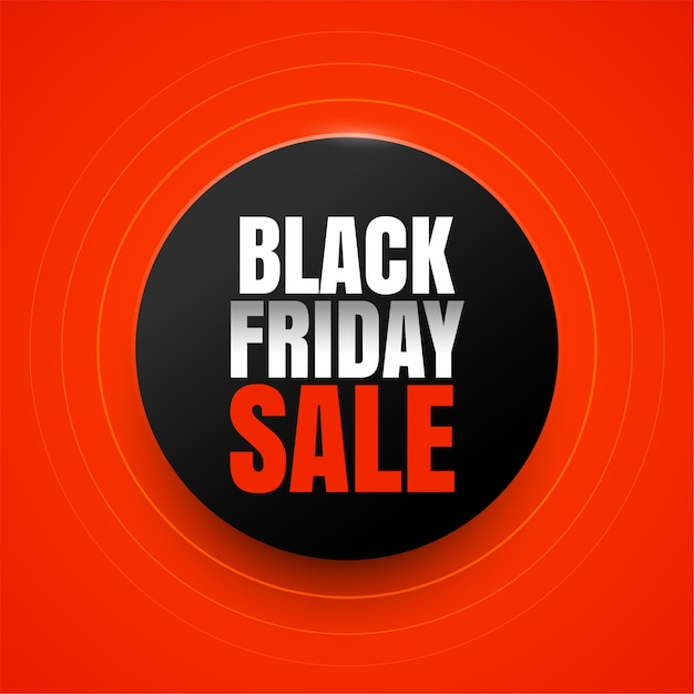 Design elegante sfondo rosso vendita venerdì nero Vettore gratuito