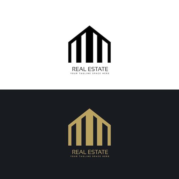 Elegant Black And Gold Real Estate Logo Vector