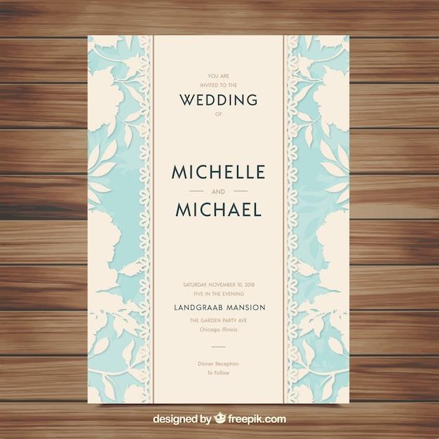 Elegant blue and white wedding invitation vector free download elegant blue and white wedding invitation free vector stopboris Choice Image
