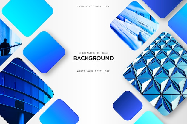 Elegant blue business background Free Vector