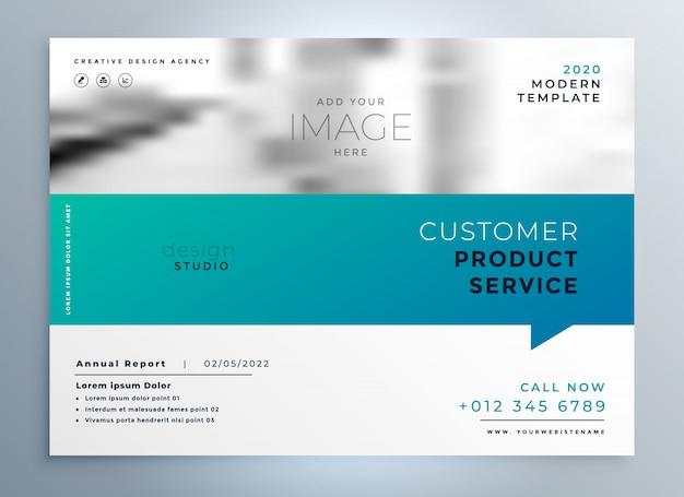 Elegant blue business brochure presentation template Free Vector