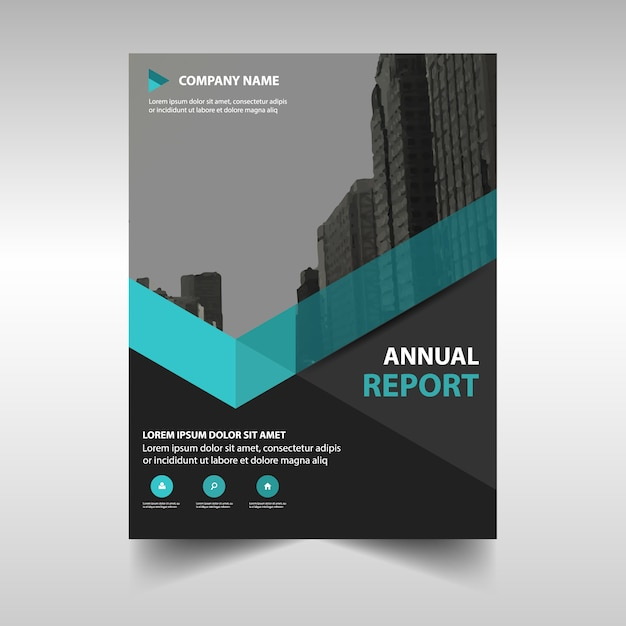 Elegant blue corporate annual report template Vector – Annual Report Templates Free Download