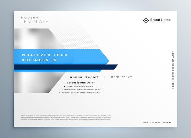 Элегантный синий современный дизайн бизнес-презентации Бесплатные векторы