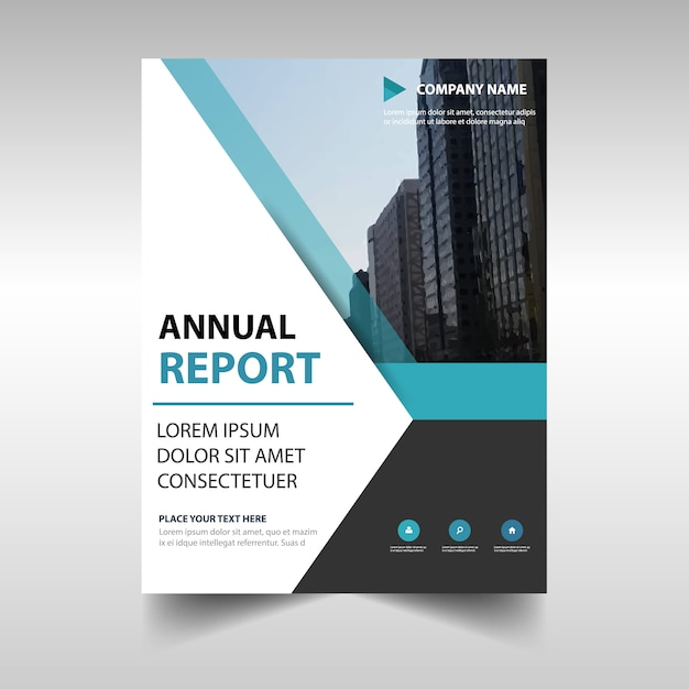 Elegant Blue Professional Annual Report Template Vector  Free