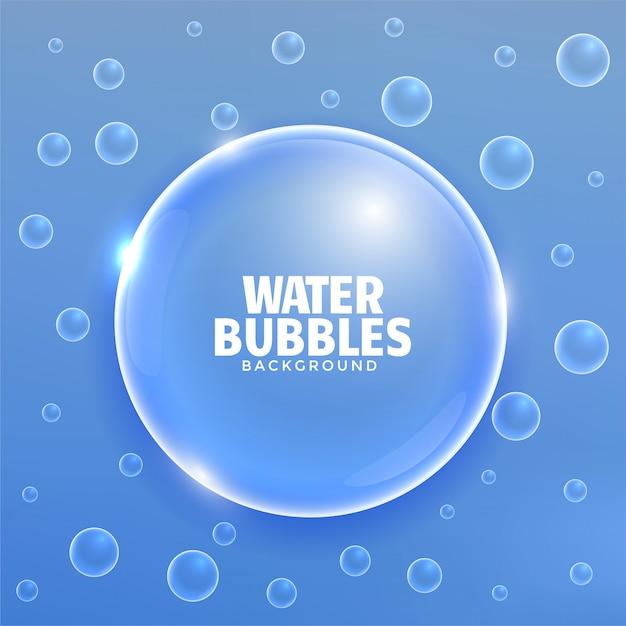 Elegant blue shiny bubbles background Free Vector