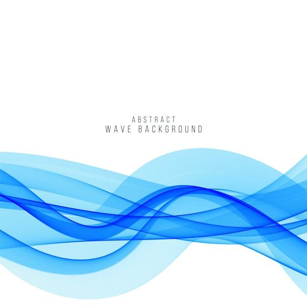 Elegant blue wave background design Free Vector