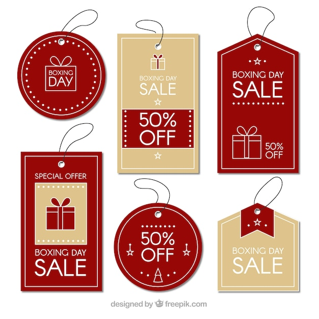Elegant boxing day sale badge Free Vector