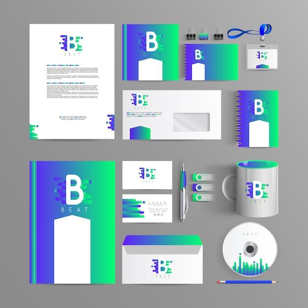 Elegant branding for your company Premium Vector