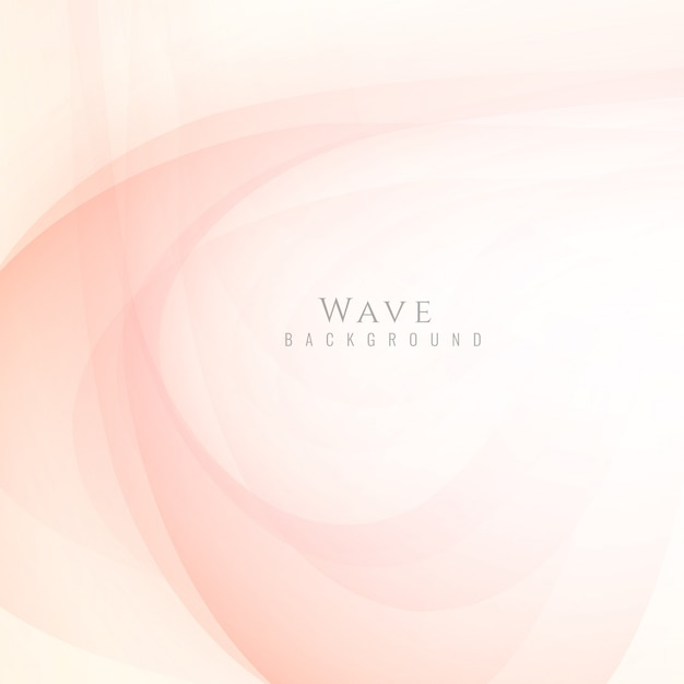 Elegant bright wavy background Free Vector