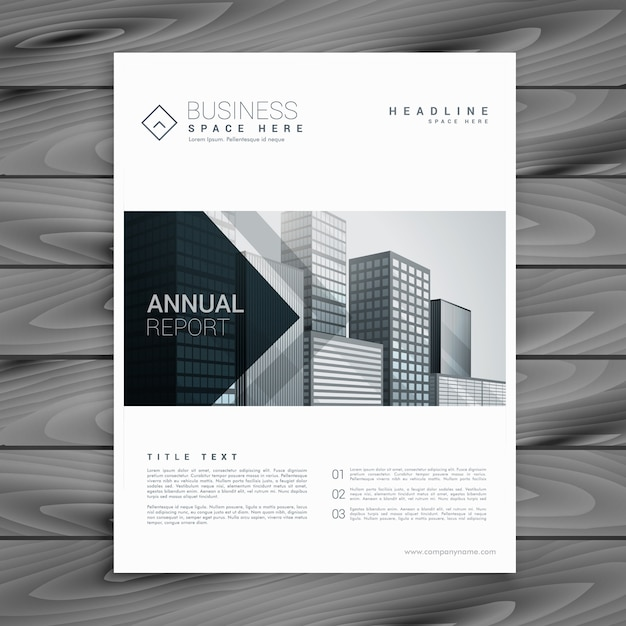Elegant brochure with arrow shapes Free Vector