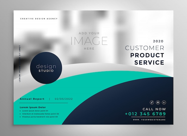 elegant business annual report brochure or presentation template Free Vector