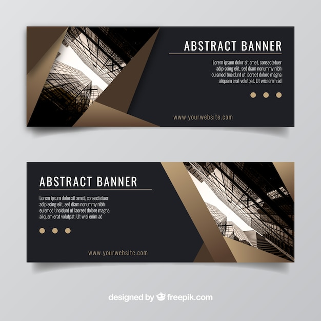 Elegant business banners
