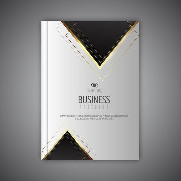 Elegant business brochure design Free Vector