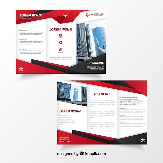 Elegant business brochure Free Vector