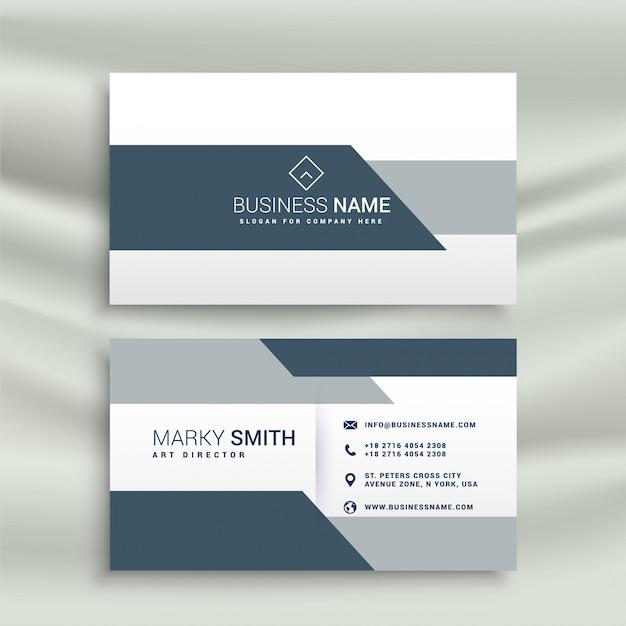 Elegant business card design in geometric shape Free Vector