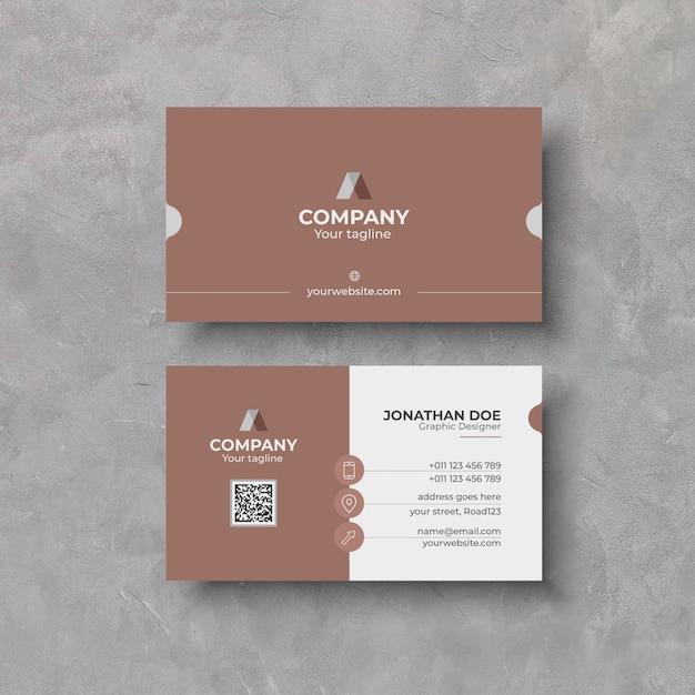 Elegant business card design template Premium Vector