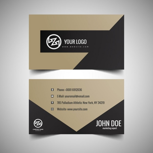 Elegant business card design Vector : Free Download