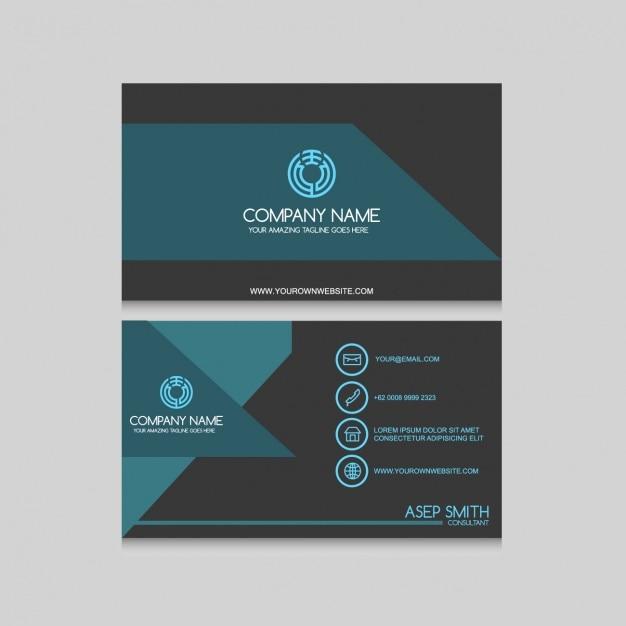 Elegant business card design Vector : Free Download