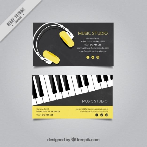 Elegant business card for a music studio vector free download elegant business card for a music studio free vector colourmoves