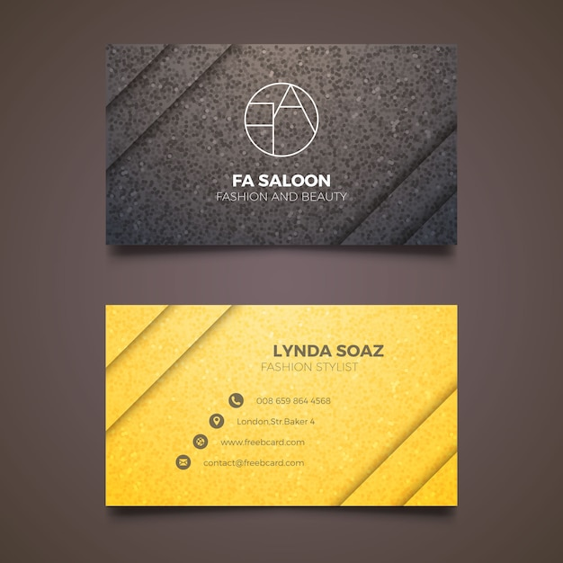 elegant business card for fashion stylist free vector - Stylist Business Cards