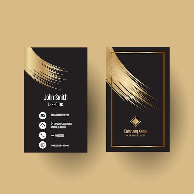 Elegant business card template design Free Vector