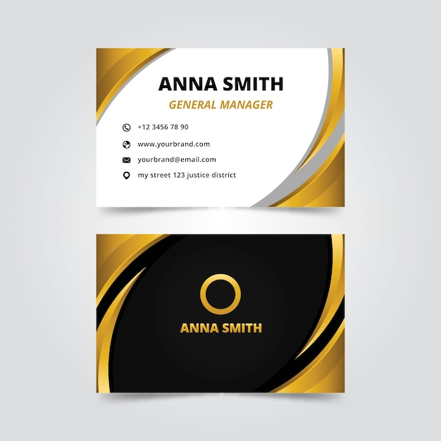 Elegant business card template theme Free Vector