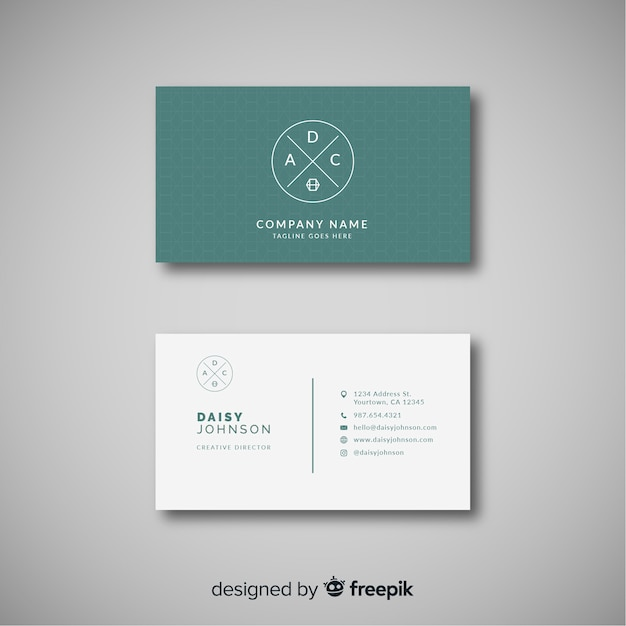 Elegant Business Card Template With Modern Style Vector Free Download