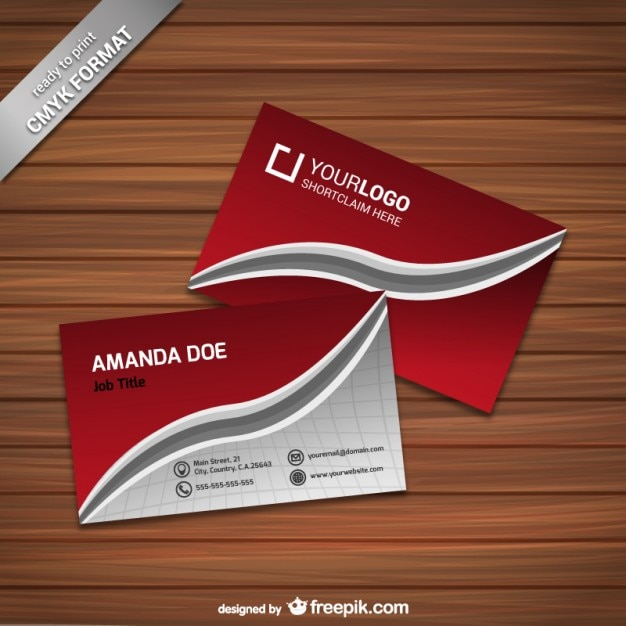 Elegant Business Card Template Vector Free Download