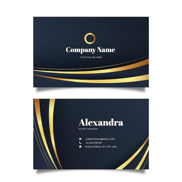Elegant business card template Free Vector
