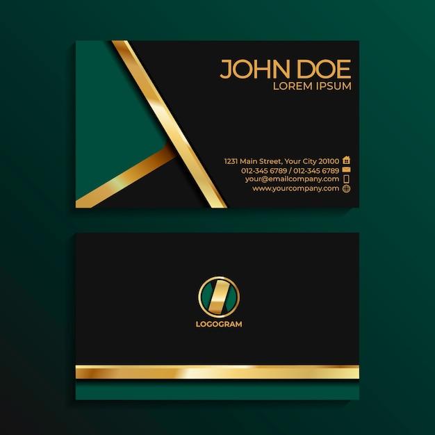 Элегантный шаблон визитной карточки Premium векторы