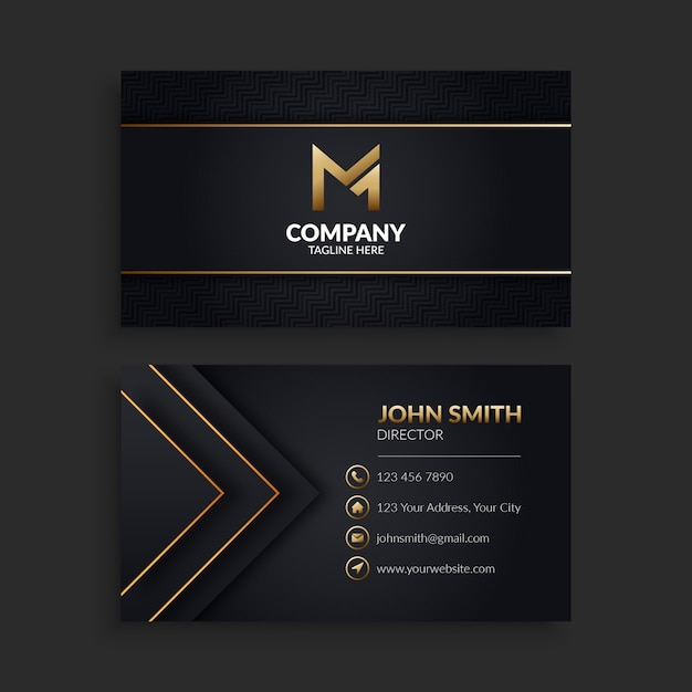 Elegant business card template Premium Vector