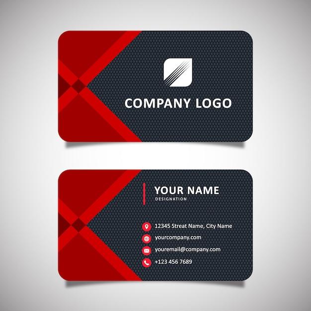 Elegant business card template Premium Vector