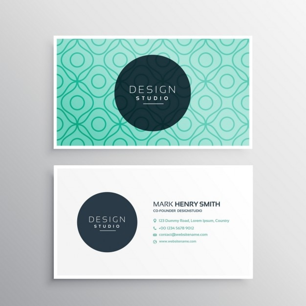 Elegant business card with abstract shapes vector free download elegant business card with abstract shapes free vector reheart Gallery