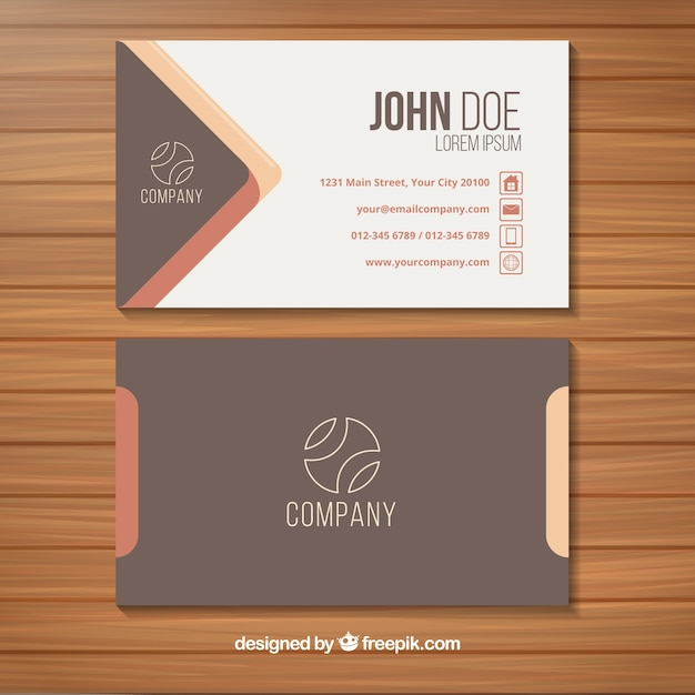 Elegant business card with original style vector free download elegant business card with original style free vector reheart Images