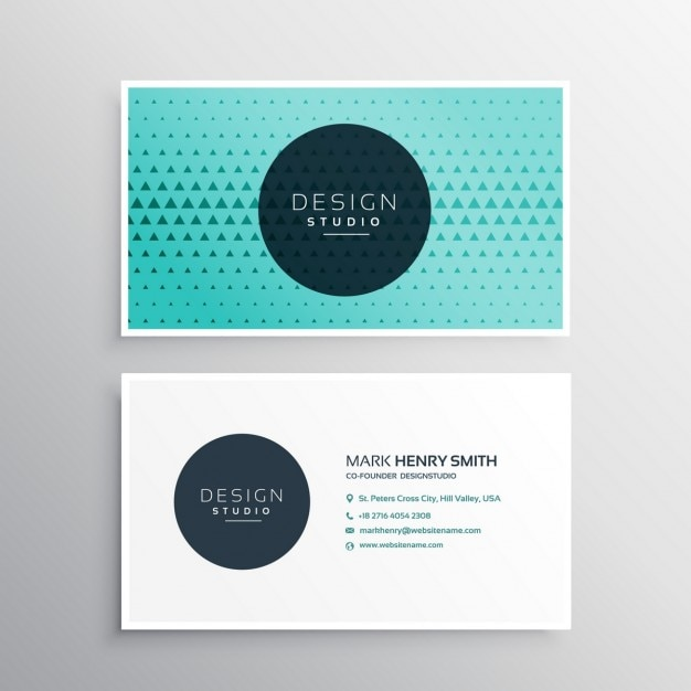 Elegant business card with triangles Vector | Free Download