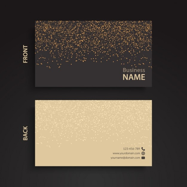 Elegant business card with two colors Free Vector