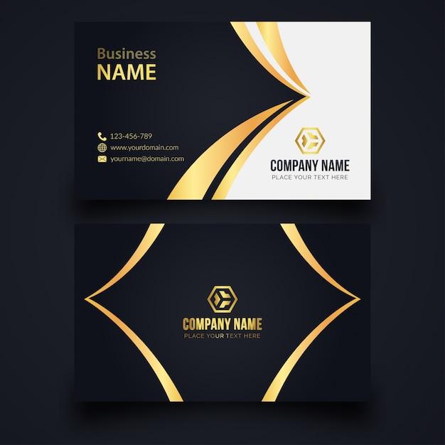 Elegant business card Premium Vector