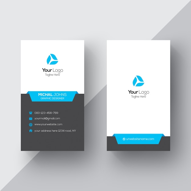 Diamond Shapes Golden Business Card Vector | Free Download