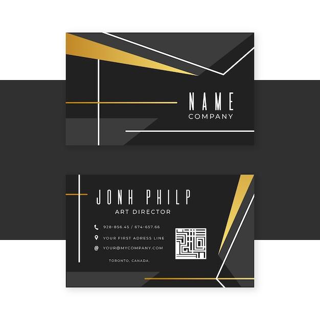 Elegant business card Free Vector