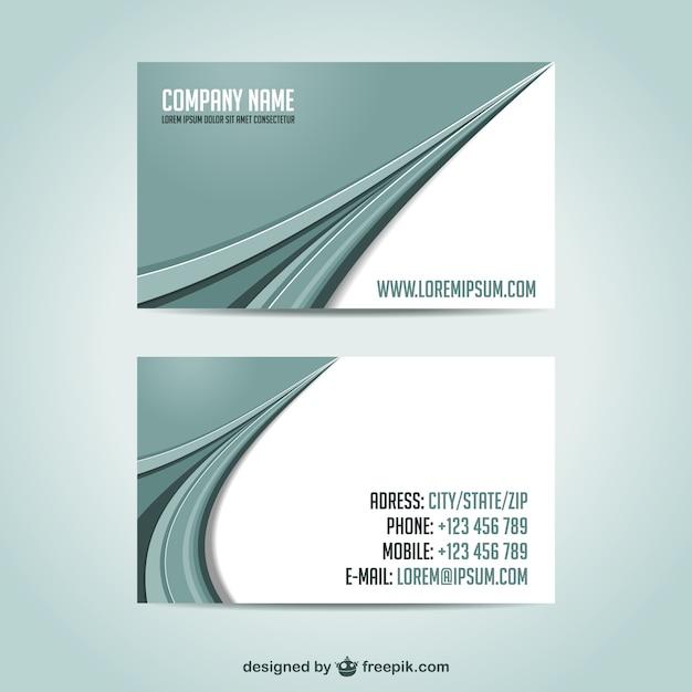 Визитные карточки шаблон бесплатно downoad Бесплатные векторы