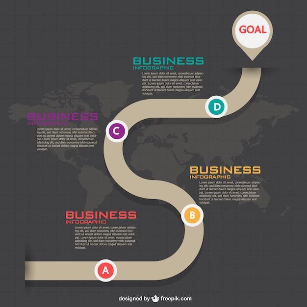 Elegant business infographic Free Vector