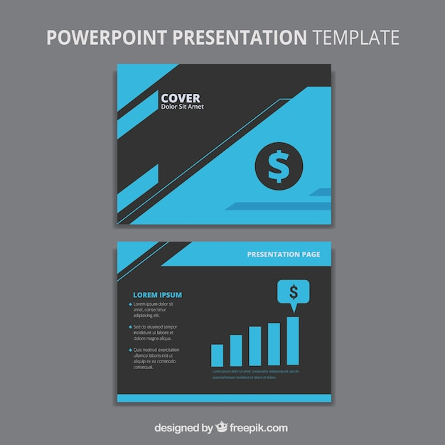 elegant business powerpoint template vector | free download, Powerpoint templates